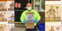 Shepard Fairey Hand-Colored Art in Hands of Essential Workers : Dispatch From Isolation #62