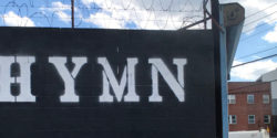 "John Fekner (with Don Leicht and Brian Albert) ""Hymn 2020"" / Welling Court Mural Project NYC"