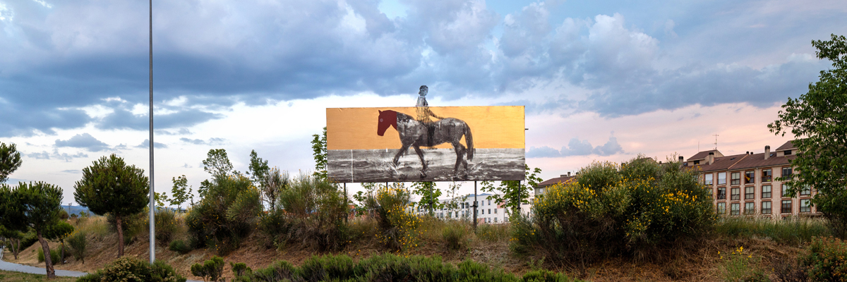 "Borondo Stages ""INSURRECTA"" on 32 Billboards in Segovia"
