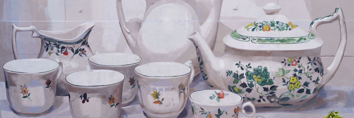 Manolo Arranges la Mesa :  Jugs, Pots, Bowls for Parees Fest 2020