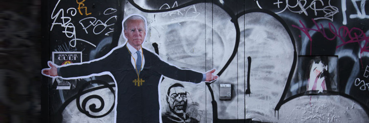 Photos of 2020: #11 : Biden Dances Across the Graffiti Tags