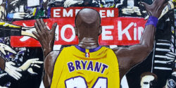 New Kobe Tribute on Street in Barcelona on 1st Anniversary of Tragedy