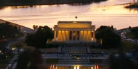 Honoring Our Beloved at Twilight at the Lincoln Memorial Along the Potomac