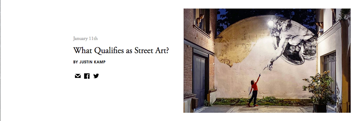 """What Qualifies as Street Art?"" Raybaud, BSA, Matt Atkins, Gastman Via Artsy"