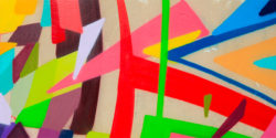 Kenor Paints Kinectic Geometric Confetti for Art Azoï in Paris