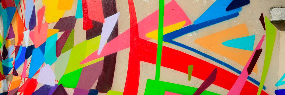 Kenor Paints Kinectic Geometric Confetti for Art Azoï in Paris