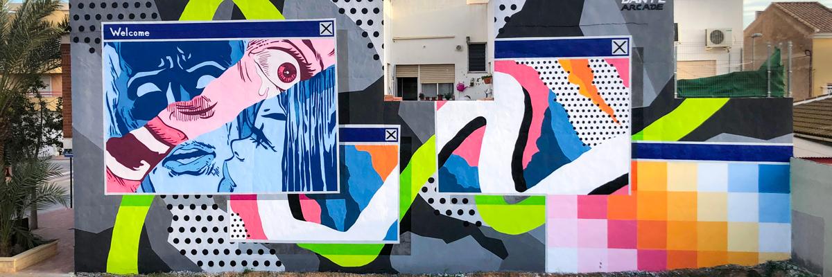 Dante Arcade and His Pop Up Windows in Murcia, Spain