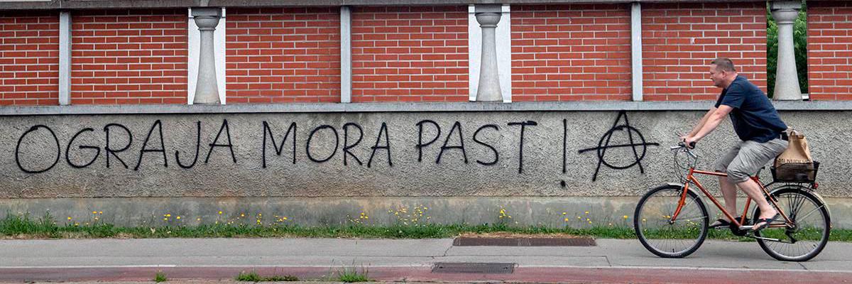 "Escif: ""The Fences Must Fall""; A Provocative Ljubljana Street Art Festival"