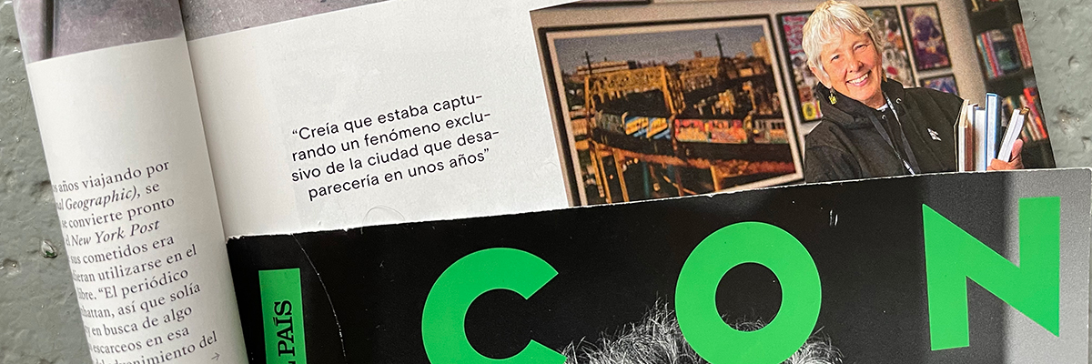 "EL PAIS : ""Martha Cooper: Taking Pictures"" in Icon Magazine Madrid"