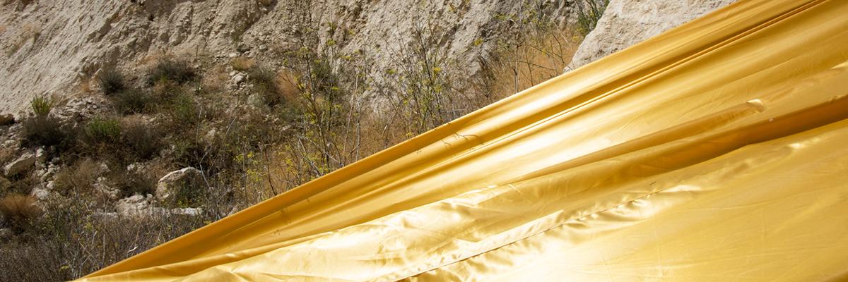 Golden Rivers from Gola Hundun Mark Landslides in Stigliano, Italy